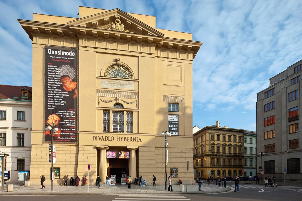 Hybernia Theatre, Prague, Czechia : Stock Photo