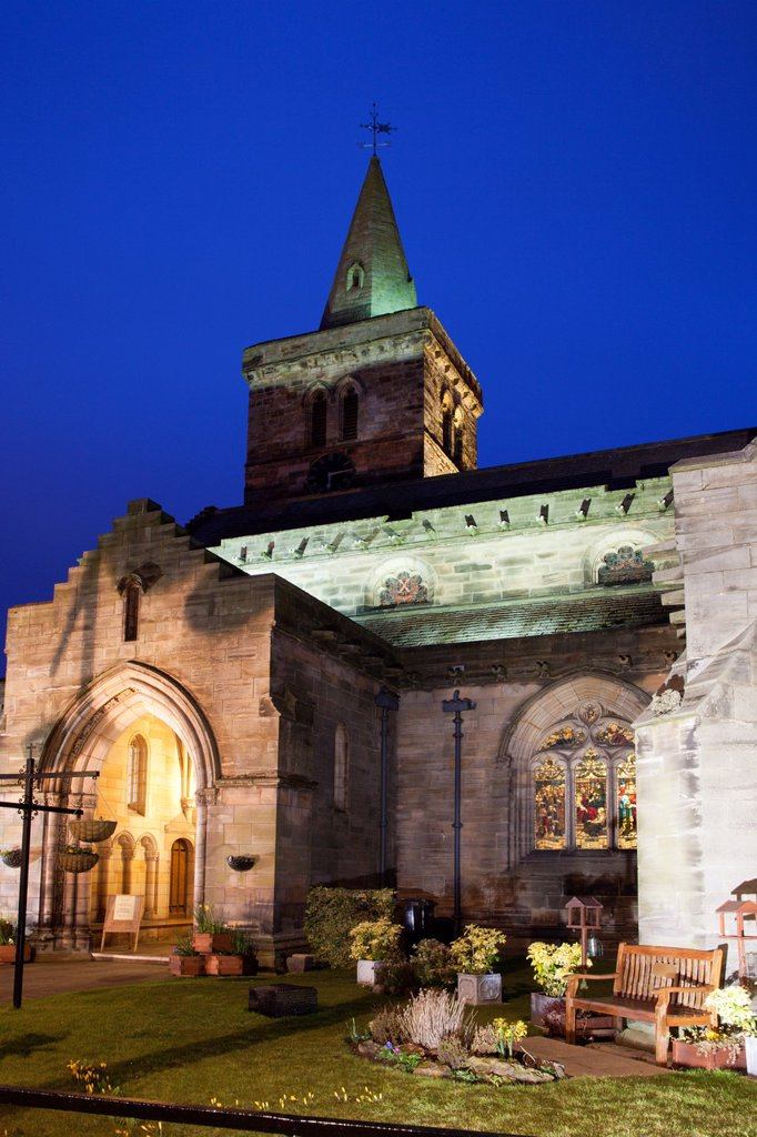 Stock Photo: 1566-1131916 Holy Trinity Church at Dusk St Andrews Fife Scotland