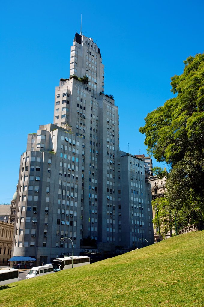 Kavanagh building, built in 1935  Plaza San Martín, Buenos Aires, Argentina. : Stock Photo