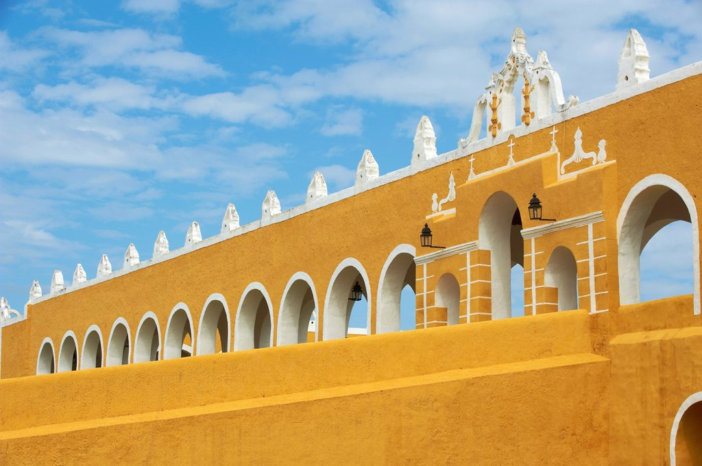 Stock Photo: 1566-1132987 Mexico, Yucatan state, Izamal, yellow city, Convento De San Antonio De Padua, Convent of San Antonio De Padua, Monastery