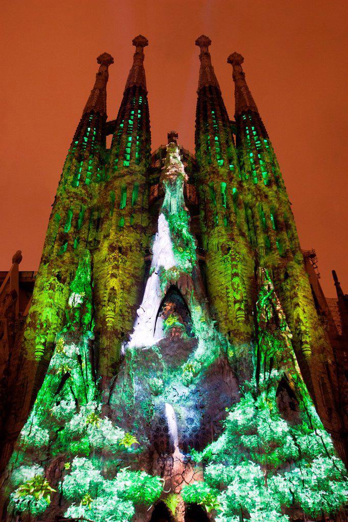 Sagrada Familia, Architect Antoni Gaudi, Barcelona, Spain : Stock Photo