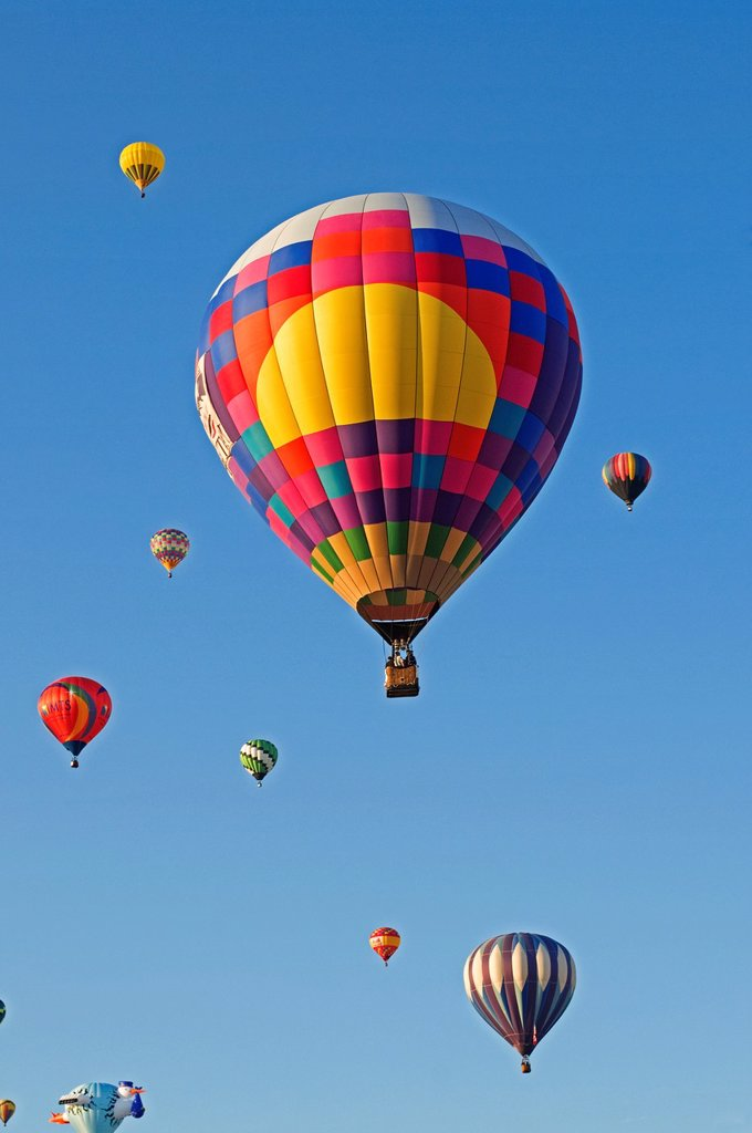 Stock Photo: 1566-1134365 Hot air balloons Albuquerque NM