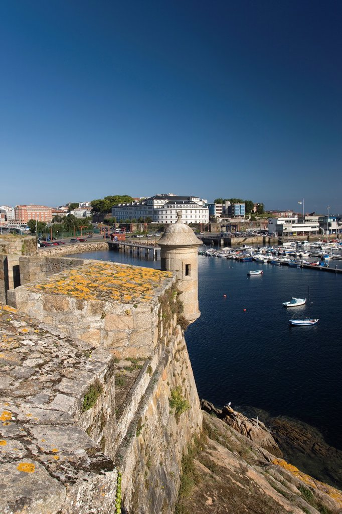 Stock Photo: 1566-1134677 HARBOR FROM CASTILLO SAN ANTON LA CORUNA GALICIA SPAIN