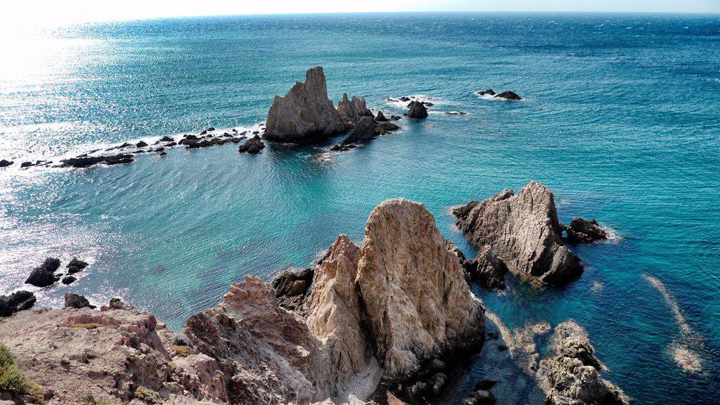 Stock Photo: 1566-1136771 Arrecife de las Sirenas Mermaids' Reef, Cabo de Gata, Almería, Andalucía