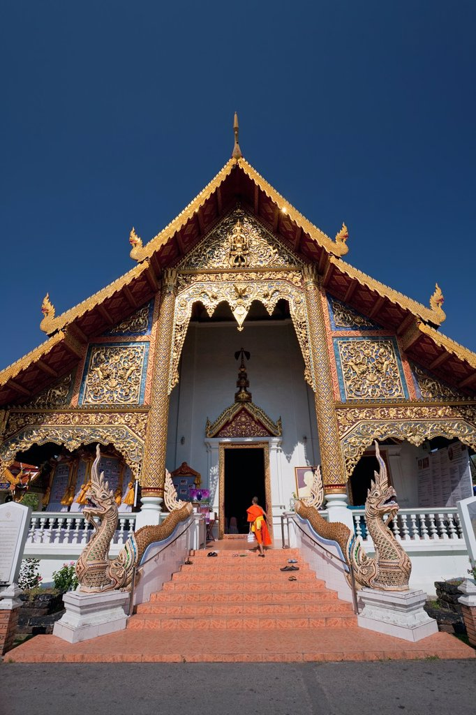 Wihaan Luang Building, Wat Phra Singh, Chiang Mai, Thailand : Stock Photo