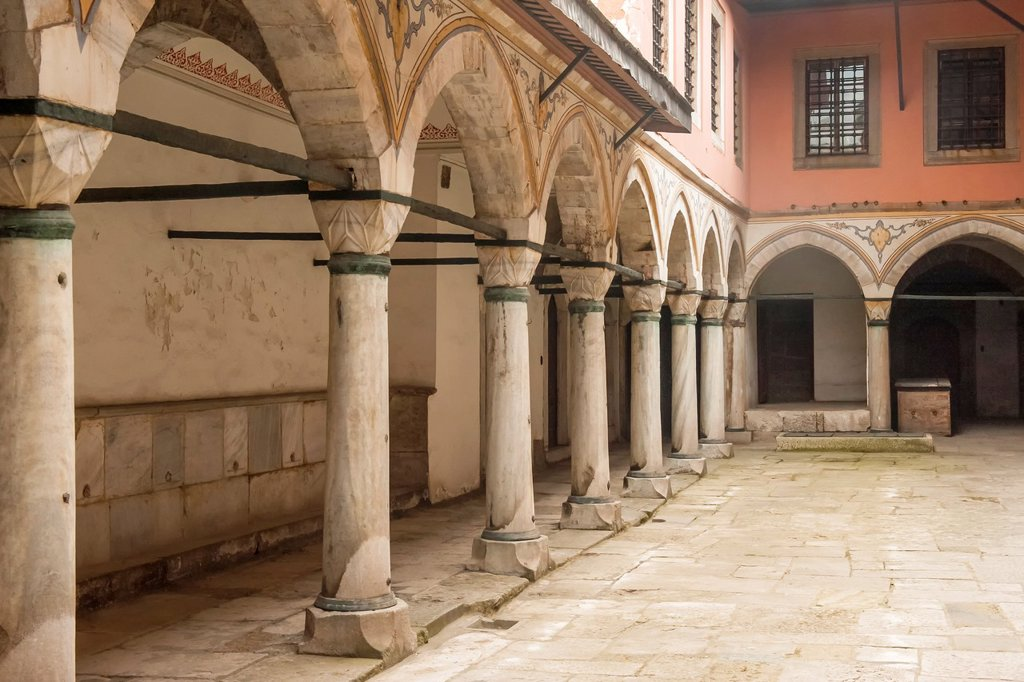 Stock Photo: 1566-1137054 Court of the Concubines and the Sultan´s Consorts, Topkapi Palace Harem , Istanbul, Turkey, Unesco World Heritage Site