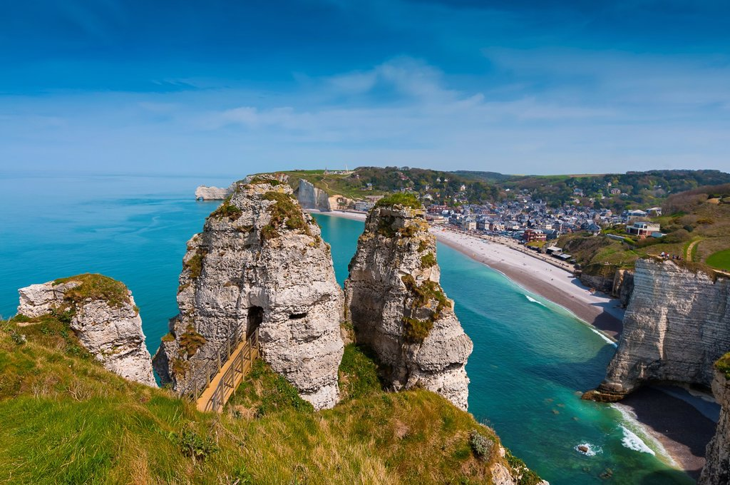 France, Normandy, Coast, Etretat, France, Europe : Stock Photo