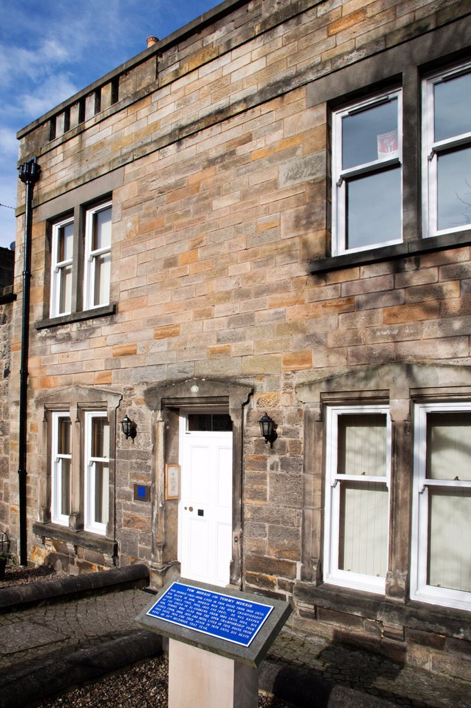 Stock Photo: 1566-1137622 Tom Morris and Tommy Morris House St Andrews Fife Scotland