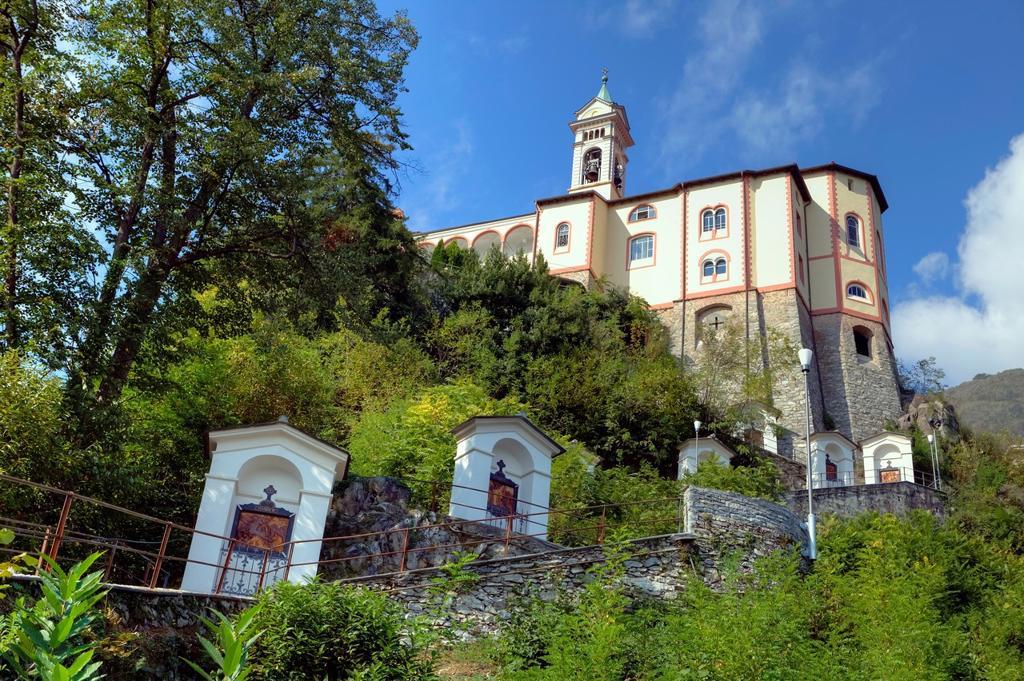 Stations of the Cross of the Sanctuary of the Madonna del Sasso in Locarno, Ticino, Switzerland : Stock Photo