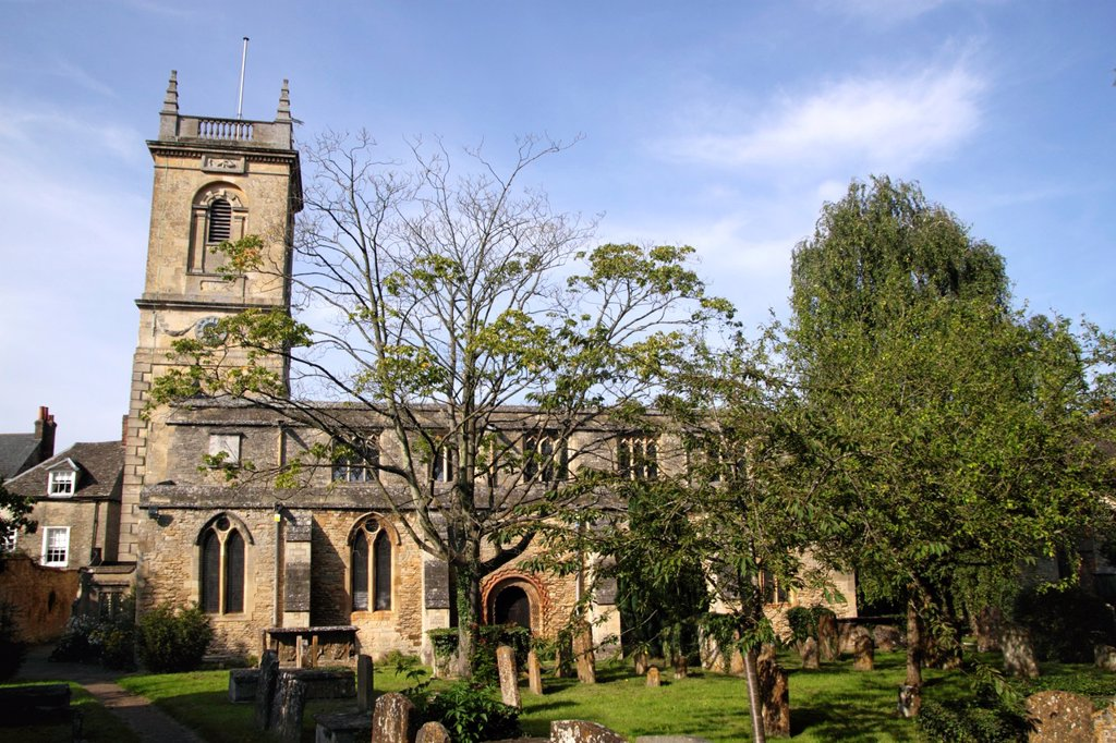 Stock Photo: 1566-1138146 St Mary Magdalene Church Woodstock Oxfordshire