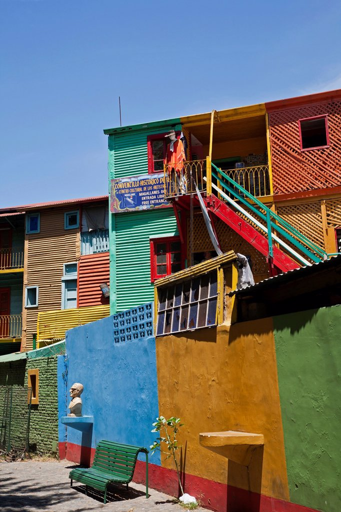 Stock Photo: 1566-1138913 Colorful houses on Caminito area in La boca  Buenos Aires, Argentina