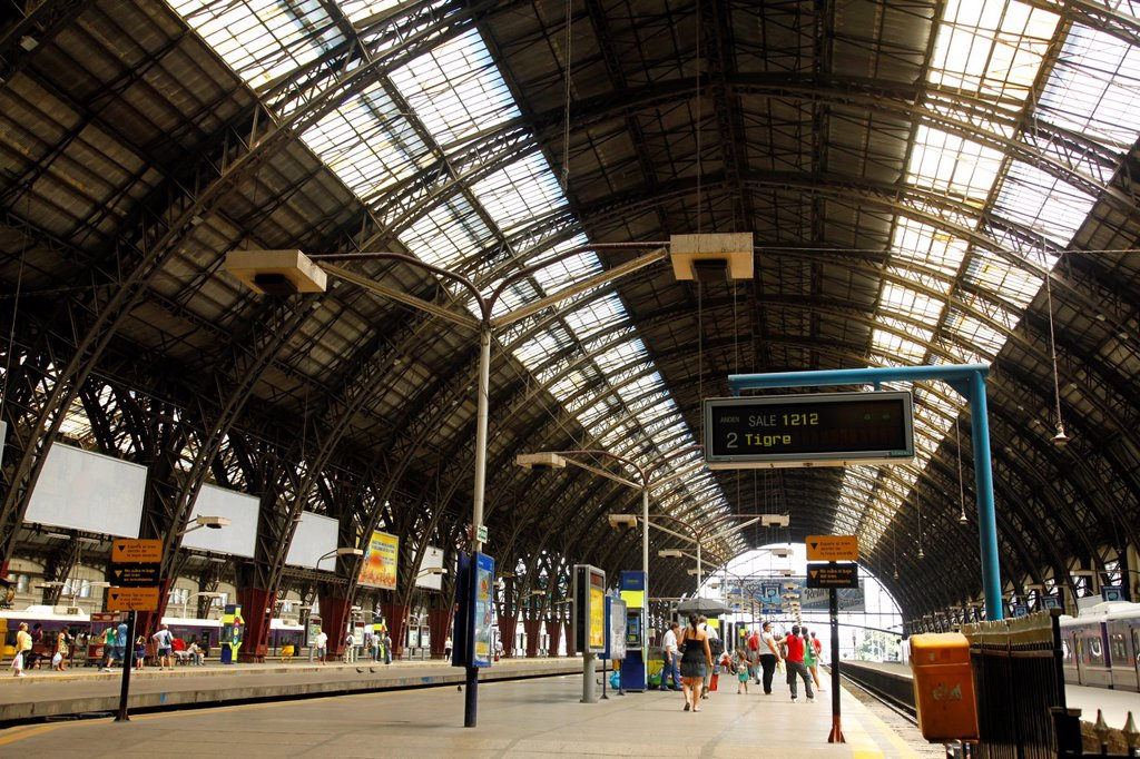 Iron Roof at Retiro railway station, Buenos Aires, Argentina : Stock Photo