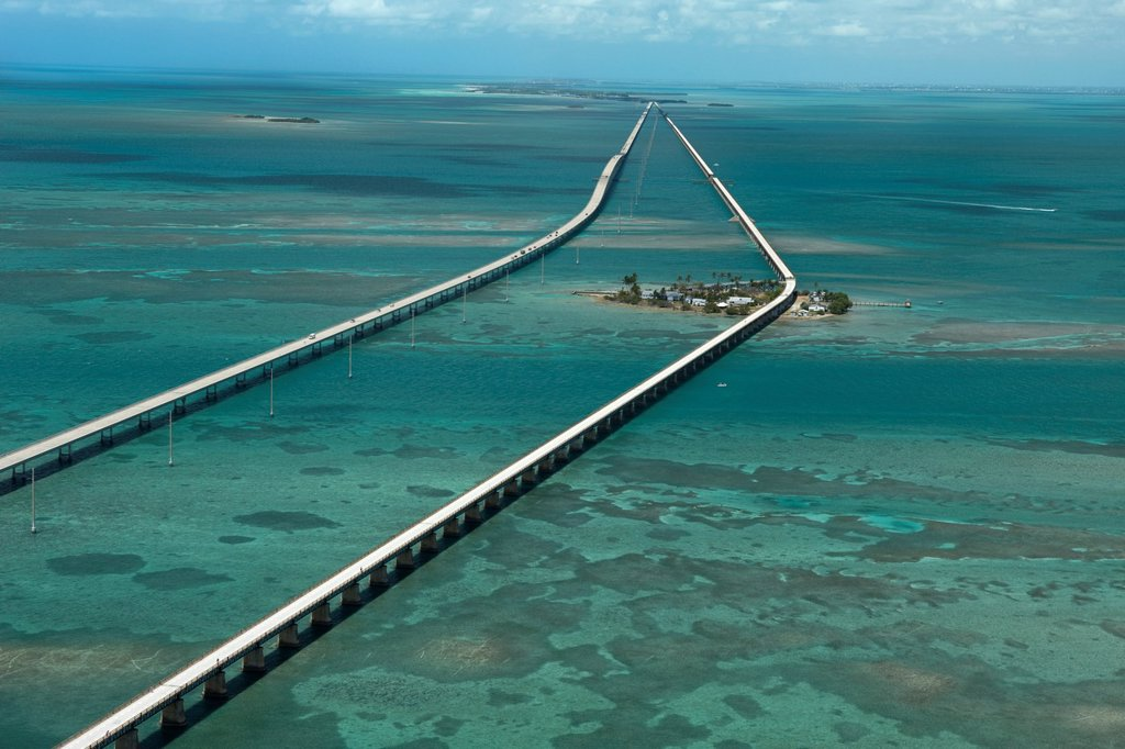 Stock Photo: 1566-1140011 PIGEON KEY SEVEN MILE BRIDGE MONROE COUNTY FLORIDA USA