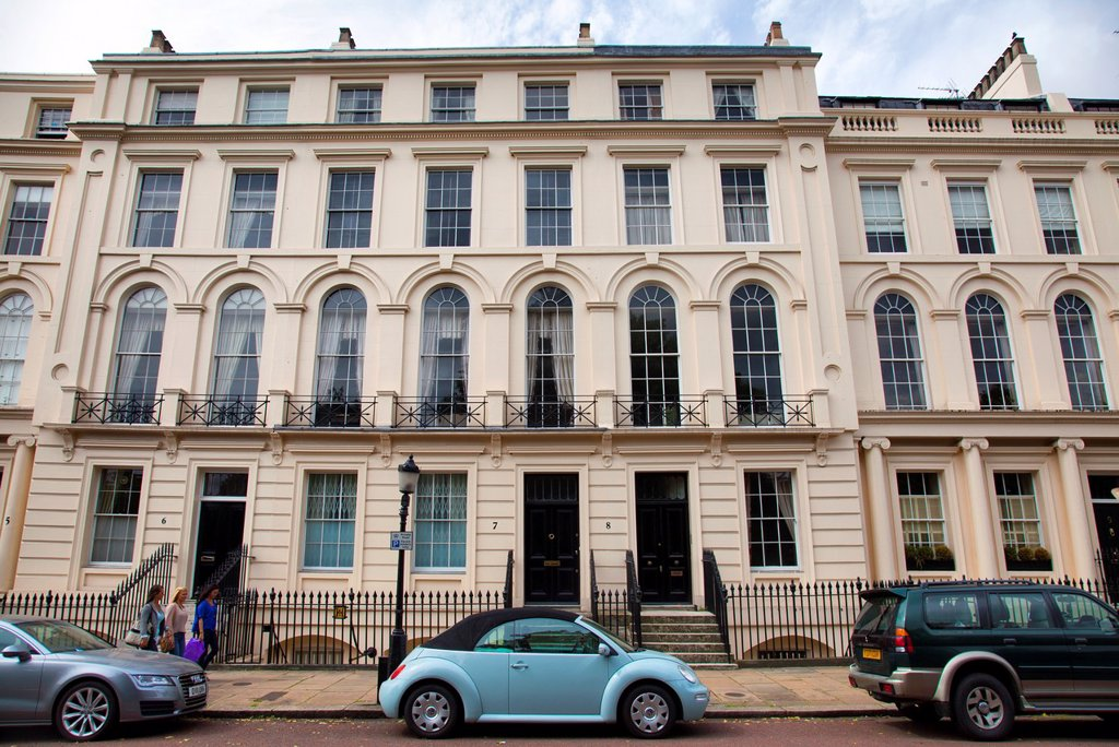 Stock Photo: 1566-1140611 Park Square West Homes near Regents Park - London UK