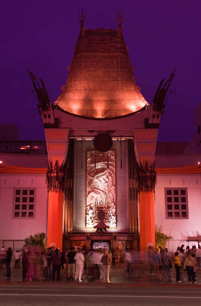 MANNÕS CHINESE THEATER HOLLYWOOD BOULEVARD HOLLYWOOD LOS ANGELES CALIFORNIA USA : Stock Photo