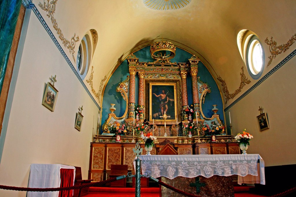 Stock Photo: 1566-1143243 Chapel, Cathedral of San Juan Bautista, s XIX, Fira, Santorini, Greece