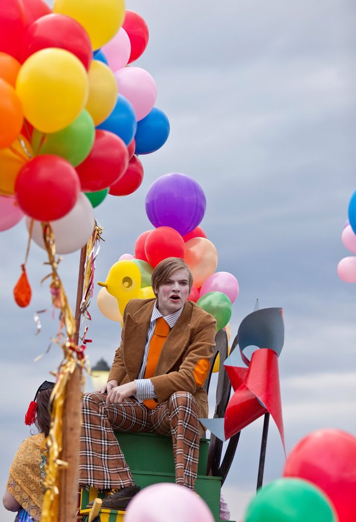 Stock Photo: 1566-1143377 Street performers during Independence Day, Reykjavik, Iceland  Many festivities around the entire country that include colorful parades, street theater, sideshows and dancing
