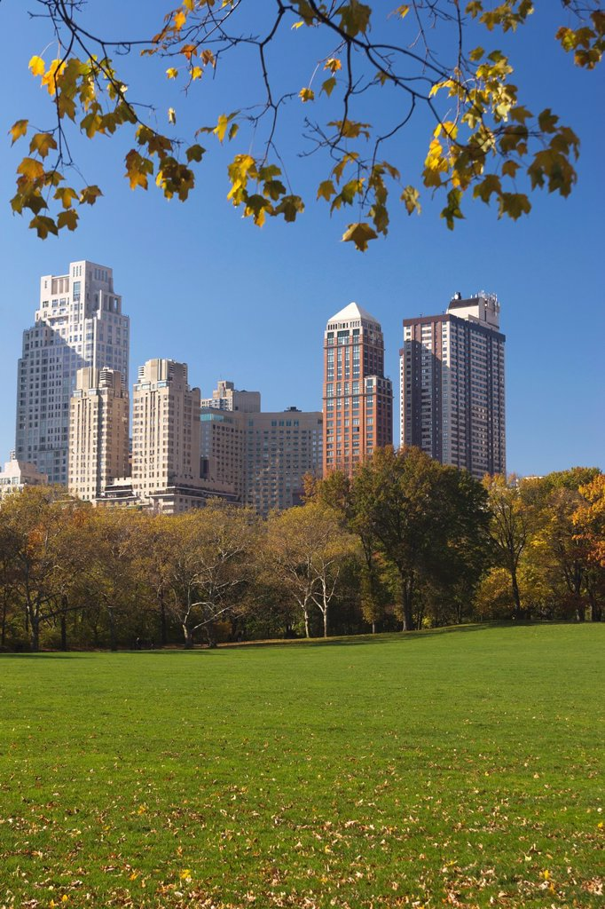 Stock Photo: 1566-1143568 CENTRAL PARK SOUTH SKYLINE MIDTOWN MANHATTAN NEW YORK CITY USA