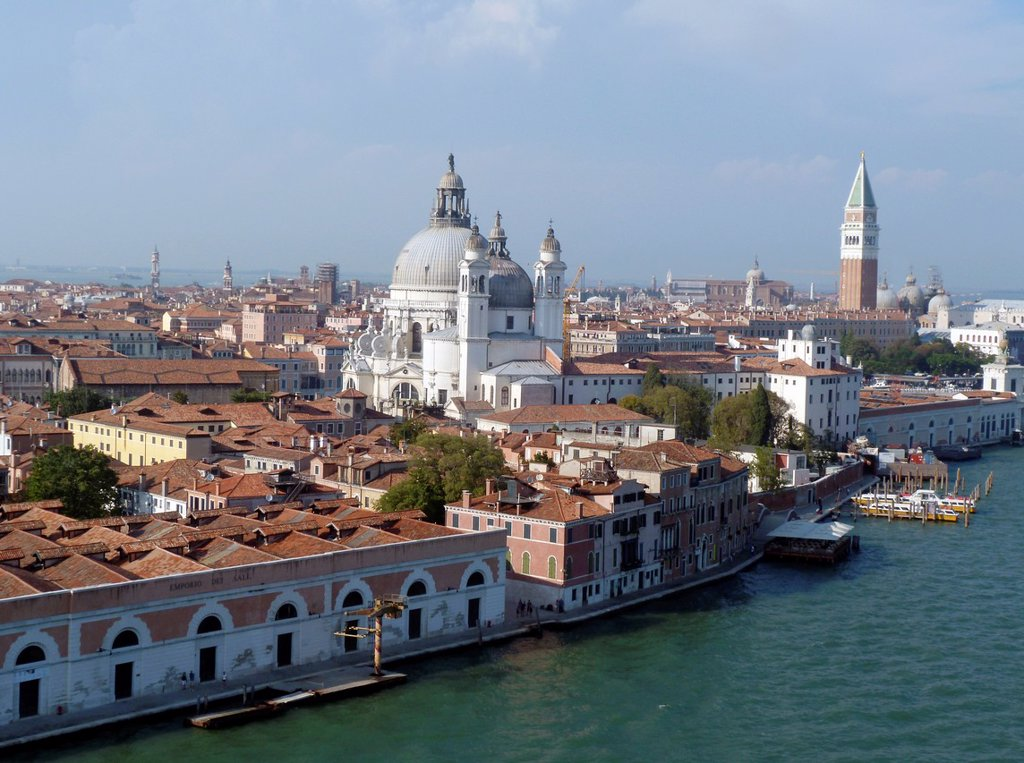 Stock Photo: 1566-1144588 Venice, aerial view, Veneto, Italy, Europe