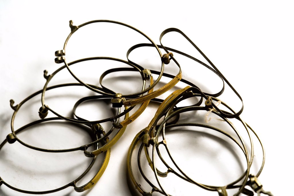 Stock Photo: 1566-1144672 Still life of old eyeglass frames