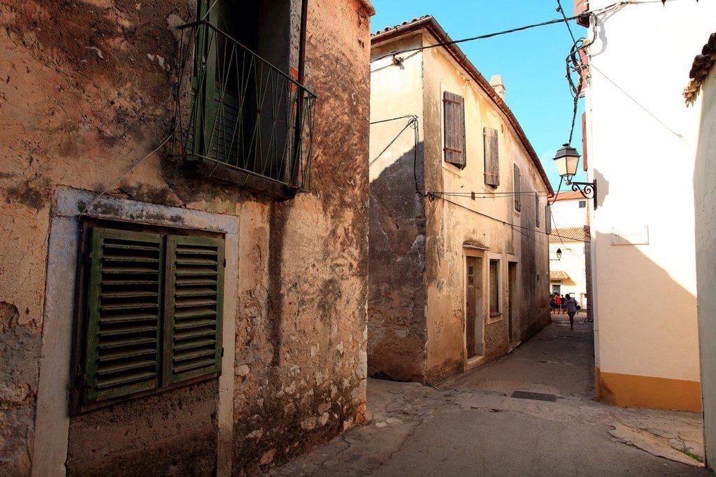 Stock Photo: 1566-1144823 Narrow street in the old historic part of Sveti Filip i Jakov, Croatia