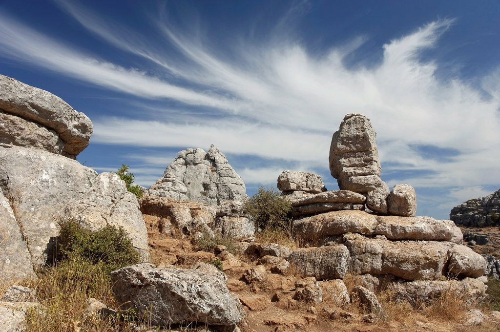 Stock Photo: 1566-1144896 Torcal de Antequera Natural Park, Antequera, Malaga-province, Spain