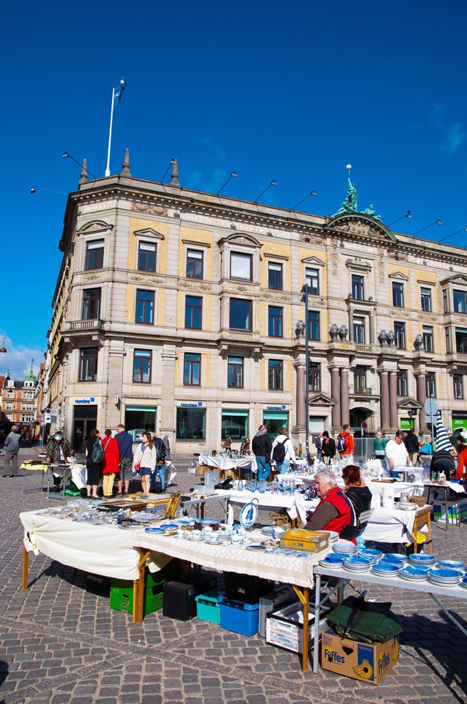 Stock Photo: 1566-1145405 Antiques market at Kongens nytorv square central Copenhagen Denmark Europe