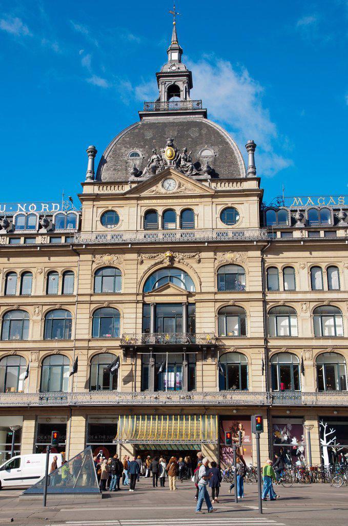 Magasin du Nord deparment store Kongens nytorv square central Copenhagen Denmark Europe : Stock Photo