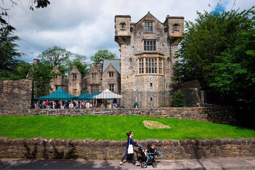 Stock Photo: 1566-1146431 A scene with Donegal Castle  Donegal town, Ulster, Republic of Ireland