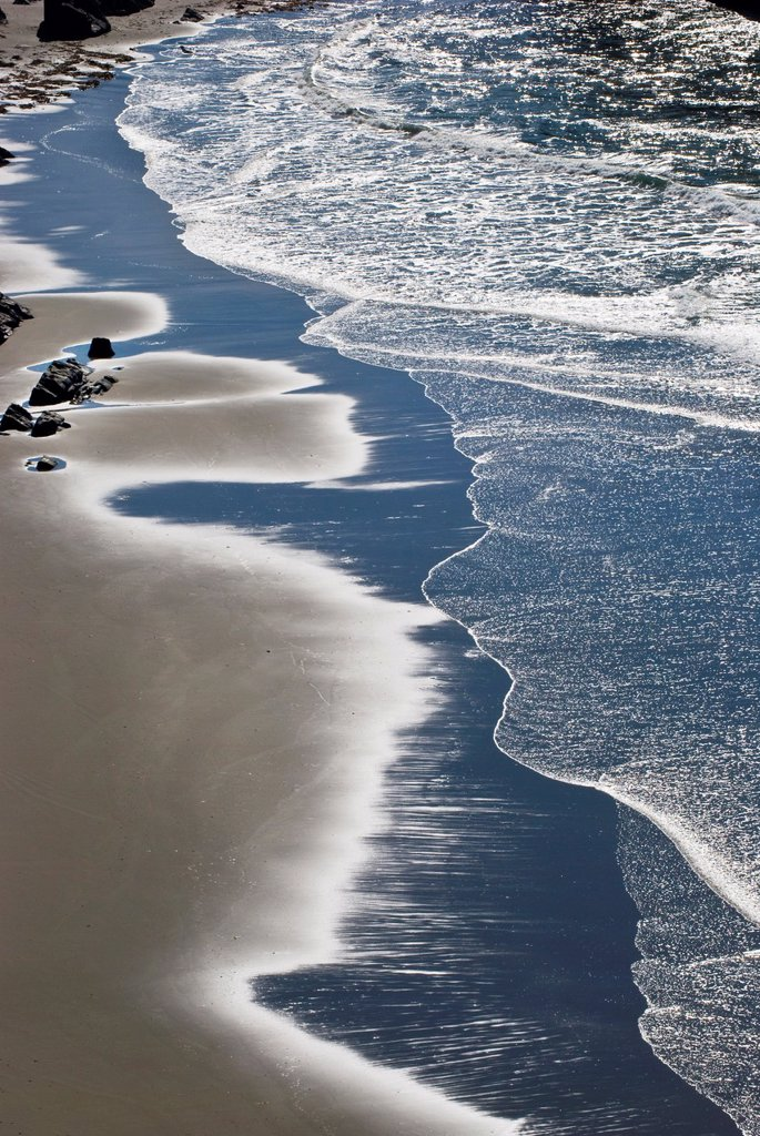 Shoreline detail, Boardman State Park, Oregon, view from above : Stock Photo