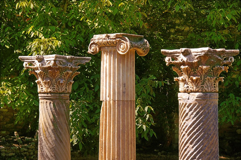 Stock Photo: 1566-1148394 Turkey- columns at Aphrodisias Greek: fds, Aphrodisiás was a small city in Caria, on the southwest coast of Asia Minor  Its site is located near the modern village of Geyre, Turkey, about 230 km 140 mi south-east of Izmir and about 100 km 62 mi inland fro. Turkey- columns at Aphrodisias Greek: fds, Aphrodisiás was a small city in Caria, on the southwest coast of Asia Minor  Its site is located near the modern village of Geyre, Turkey, about 230 km 140 mi south-east of Izmir and about 100 km 62 m