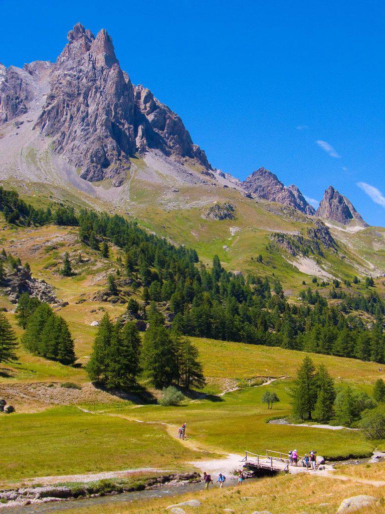vallee de la claree,nevache,hautes alpes,france : Stock Photo