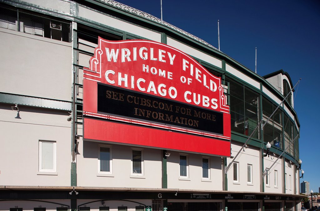 CHICAGO CUBS WRIGLEY FIELD BASEBALL STADIUM CHICAGO ILLINOIS USA : Stock Photo