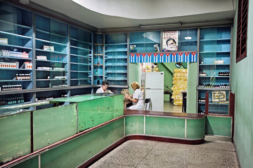 Stock Photo: 1566-1149304 Pharmacy, Santa Clara, Cuba.