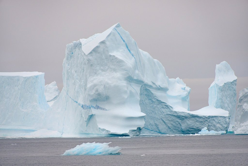 Greenland, Melville Bay, Cape York, Icebergs : Stock Photo
