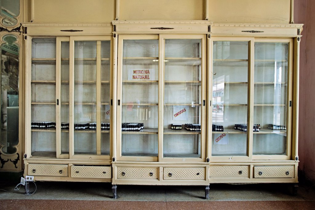 Stock Photo: 1566-1149955 Pharmacy, Placetas, Santa Clara province, Cuba.