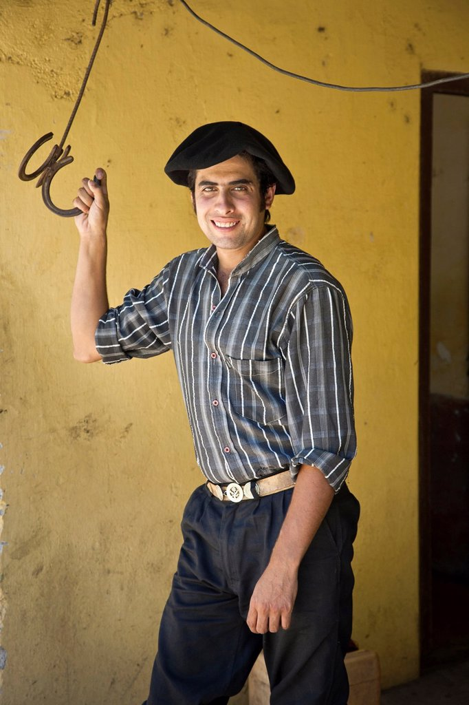 Stock Photo: 1566-1149998 Portrait of a gaucho at Estancia La Paz, Cordoba Province, Argentina