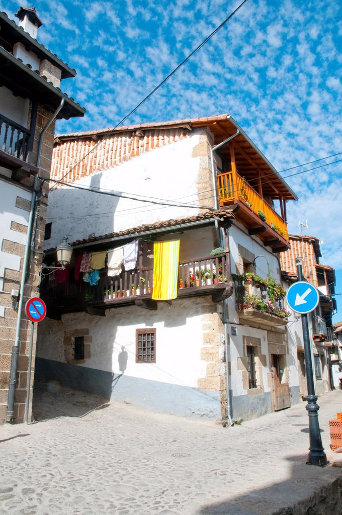 Stock Photo: 1566-1150160 Typical house. Candelario, Salamanca province, Castilla Leon, Spain.