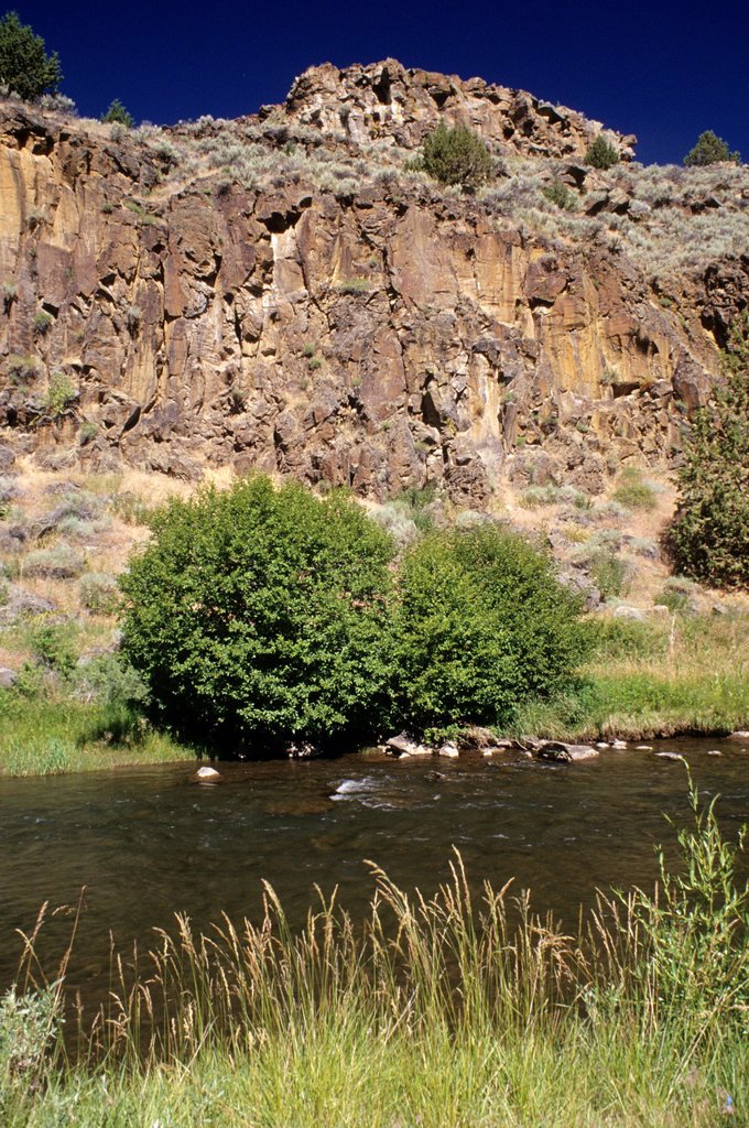 Stock Photo: 1566-1150246 Donner und Blitzen Wild and Scenic River, Steens Mountain Wilderness, Steens Mountain Recreation Area, Oregon