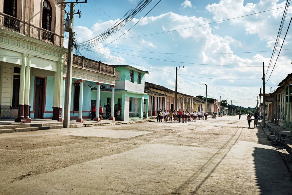 Stock Photo: 1566-1150827 Street, Placetas, Santa Clara province, Cuba.