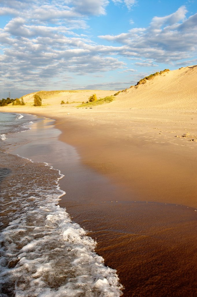 Stock Photo: 1566-1151401 BEACH MOUNT BALDY DUNE INDIANA DUNES NATIONAL LAKESHORE PORTER LAKE MICHIGAN INDIANA USA