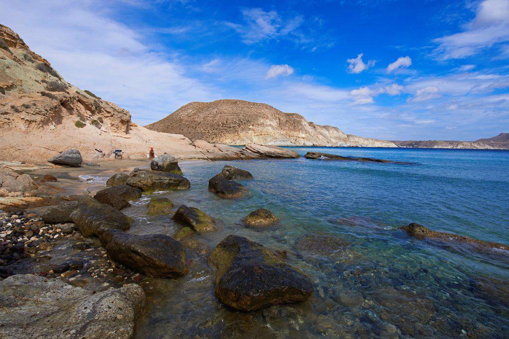 Stock Photo: 1566-1151646 Cabo de Gata, Del Plomo Beach, Cala del Plomo, Cabo de Gata-Nijar Natural Park, Biosphere Reserve, Almeria, Spain, Europe