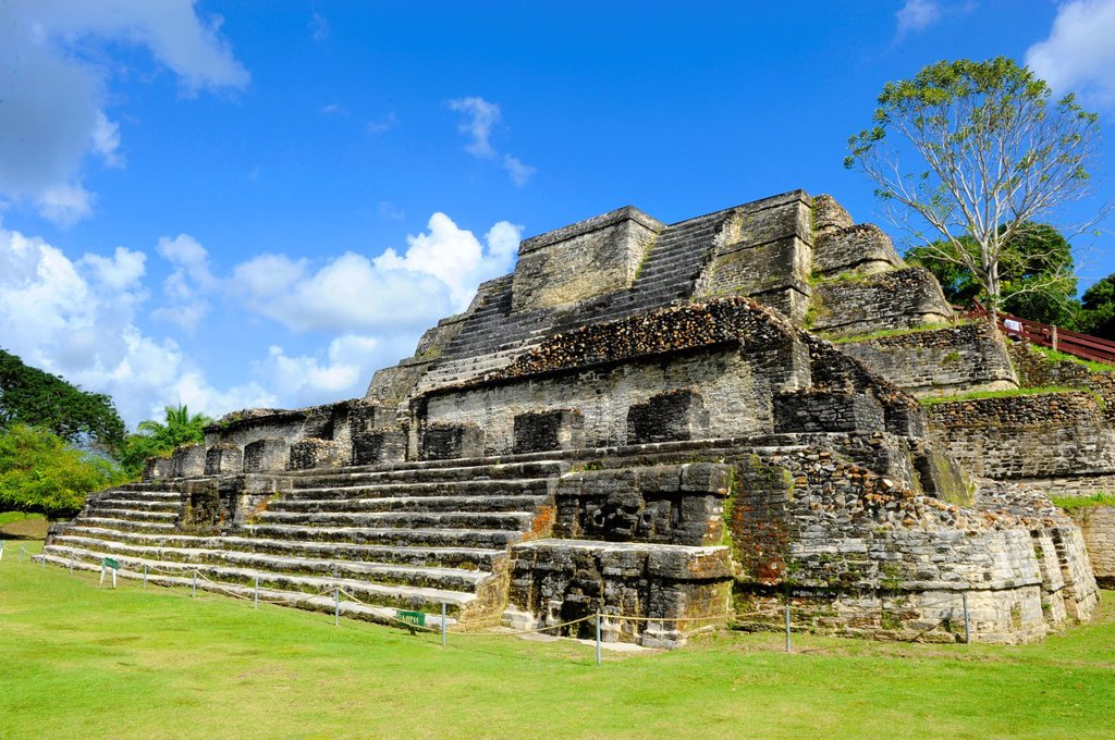Altun Ha Mayan Ruins Belize City Central America : Stock Photo