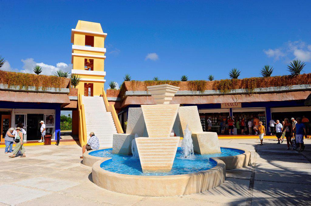 Stock Photo: 1566-1152403 Costa Maya Mexico Beach Caribbean Cruise Ship Port Shopping Area