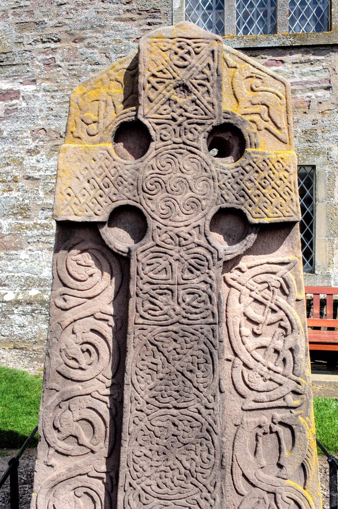 Pictish carved stone, Aberlemno, Angus, Scotland, UK : Stock Photo