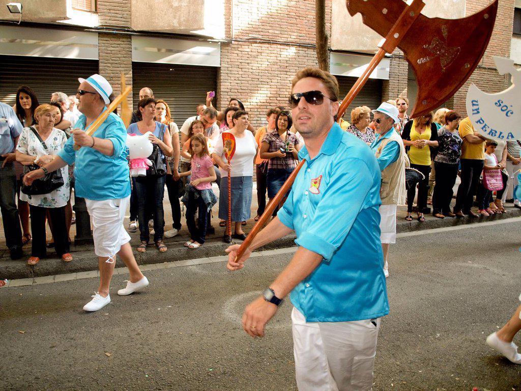 Stock Photo: 1566-1154379 Popular festival of choirs humorous held around Pentecost. Barceloneta neighborhood, Barcelona, Catalonia, Spain.