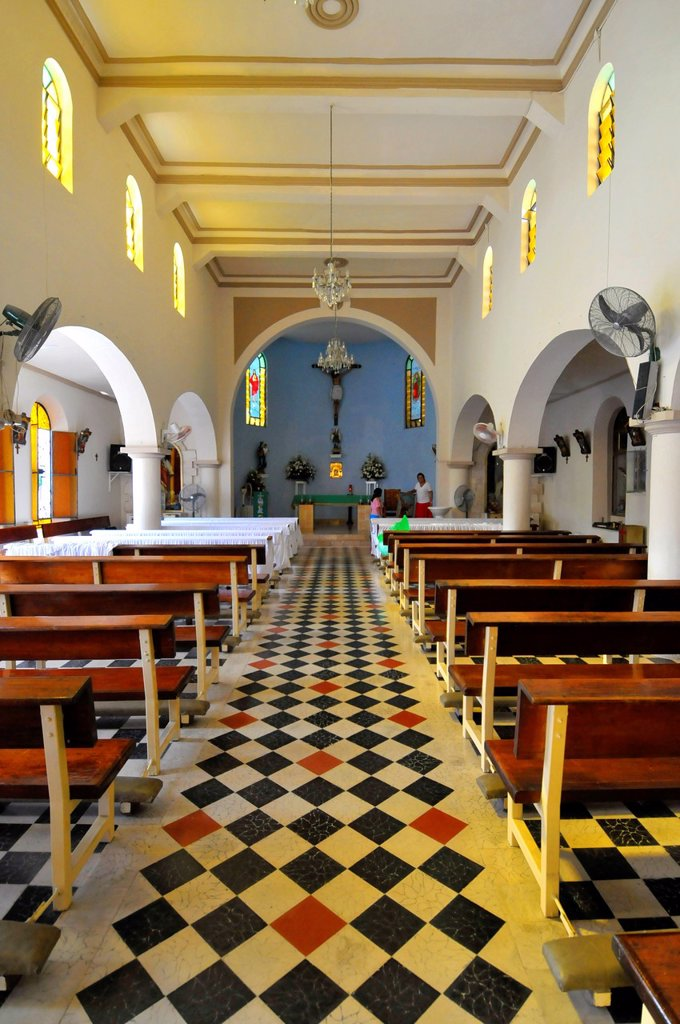 Stock Photo: 1566-1155206 Iglesia de San Miguel Catholic Church Cozumel Mexico