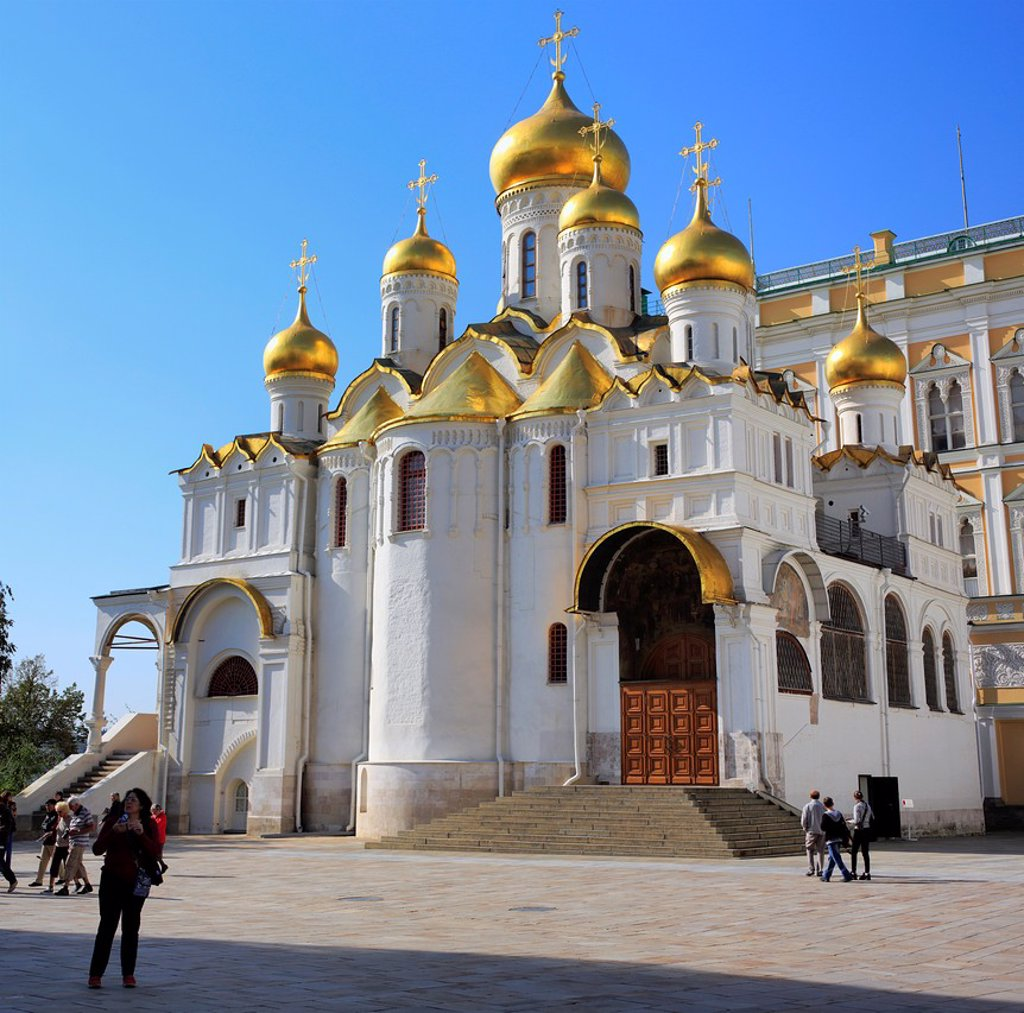 Stock Photo: 1566-1155345 Cathedral of the Annunciation 1489, Moscow Kremlin, Moscow, Russia