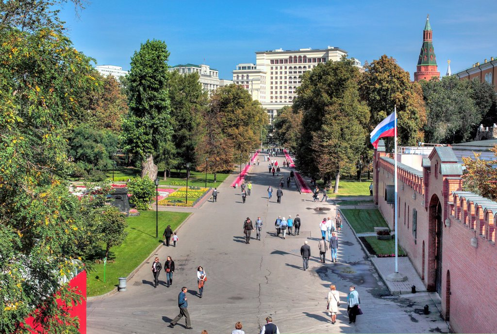 Alexander Garden, Moscow, Russia : Stock Photo