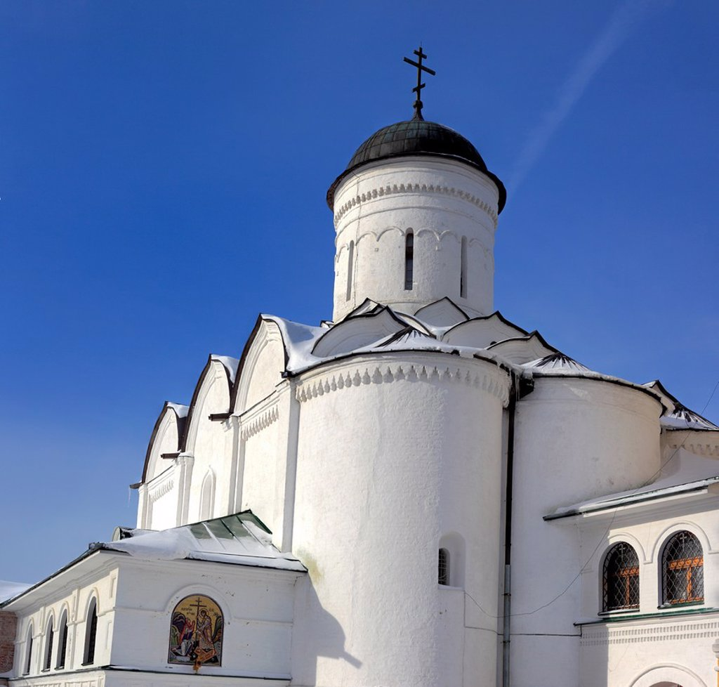 Church of the Saviour 16th century, Annunciation Monastery, Kirzhach, Vladimir region, Russia : Stock Photo